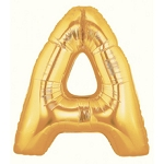 7 Inch Gold Letter A Balloons