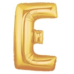 7 Inch Gold Letter E Balloons