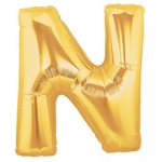 7 Inch Gold Letter N Balloons