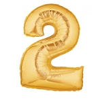 7 Inch Gold Number 2 Balloon