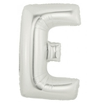40 Inch Megaloon Silver Letter E Balloons