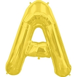 Gold Letter A 34 Inch  Foil Balloon
