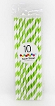 Green Stripes Paper Straws (10 ct.)