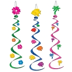 Luau Whirls Hanging Deco