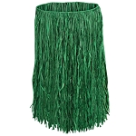 Child Raffia Hula Skirt Green