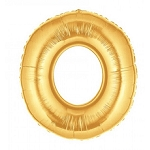 7 Inch Gold Number 0 Balloon