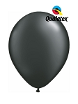 5in Pearl Onyx Black Latex Balloons - 100 ct