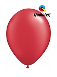 5in Pearl Ruby Red Latex Balloons - 100 ct