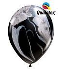 11in Black & White Rainbow Super Agate Latex Balloon - 25 ct
