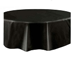 Round Heavy Duty Table Cover - Black