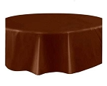Round Heavy Duty Table Cover - Dark Brown