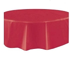 Round Heavy Duty Table Cover - Burgundy