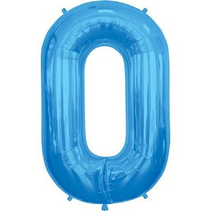 "34"" Blue Letter  O  Foil Balloon"