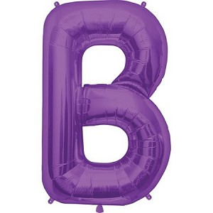 "34"" Purple Letter  B  Foil Balloon"