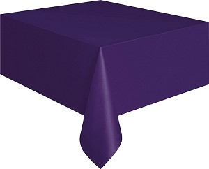 Rectangular Heavy Duty Table Cover - Purple