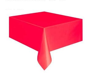 Rectangular Heavy Duty Table Cover - Red