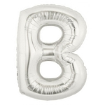 7 Inch Silver Letter B Balloons