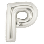 7 Inch Silver Letter P Balloons