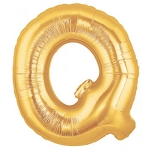 7 Inch Gold Letter Q Balloons