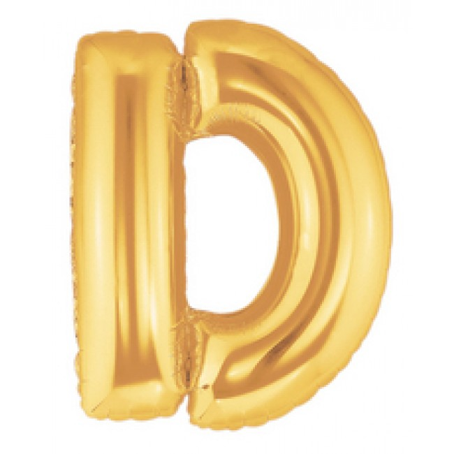 40 Inch Megaloon Gold Letter D Balloons