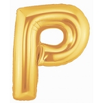 40 Inch Megaloon Gold Letter P Balloons
