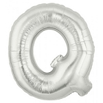 40 Inch Megaloon Silver Letter Q Balloons