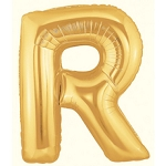 40 Inch Megaloon Gold Letter R Balloons