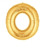 14 Inch Gold Number 0 Balloon