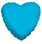 Solid Heart Turquoise Blue