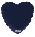 Solid Navy Blue Heart