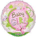 18in Baby Girl Butterfly Clear View