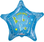 18in Welcome Baby Blue Star