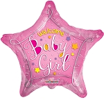 18in Welcome Baby Pink Star