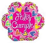 18in Feliz Cumple Flor Gellibean