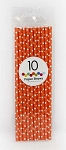 Orange Polka Dot Paper Straws (10 ct.)