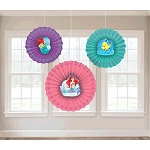 Disney Ariel Dream Big Paper Fan Decoration