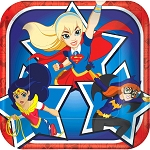 DC Super Hero Girl 7in Dessert Plates