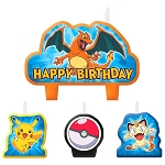 Pikachu & Friends Mini Molded Candle Set