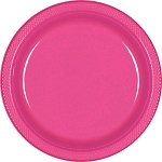 Bright Pink 7in Plastic Plates
