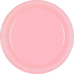 New Pink 7in Plastic Plates