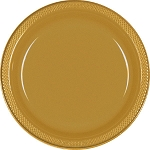 Gold 7in Plastic Plates
