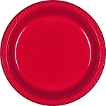 Apple Red 7in Plastic Plates