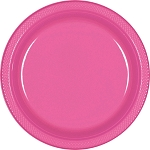 Bright Pink 9in Plastic Plates