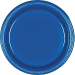 Bright Royal Blue 9in Plastic Plates