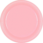 New Pink 9in Plastic Plates