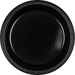 Jet Black 9in Plastic Plates