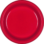 Apple Red 9in Plastic Plates
