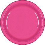 Bright Pink 10.25in Plastic Plates