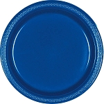 Bright Royal Blue 10.25in Plastic Plates