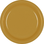 Gold 10.25in Plastic Plates